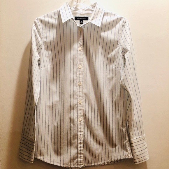 daa2db92 Banana Republic Tops | Fitted Button Down Dress Shirt Sz4 | Poshmark